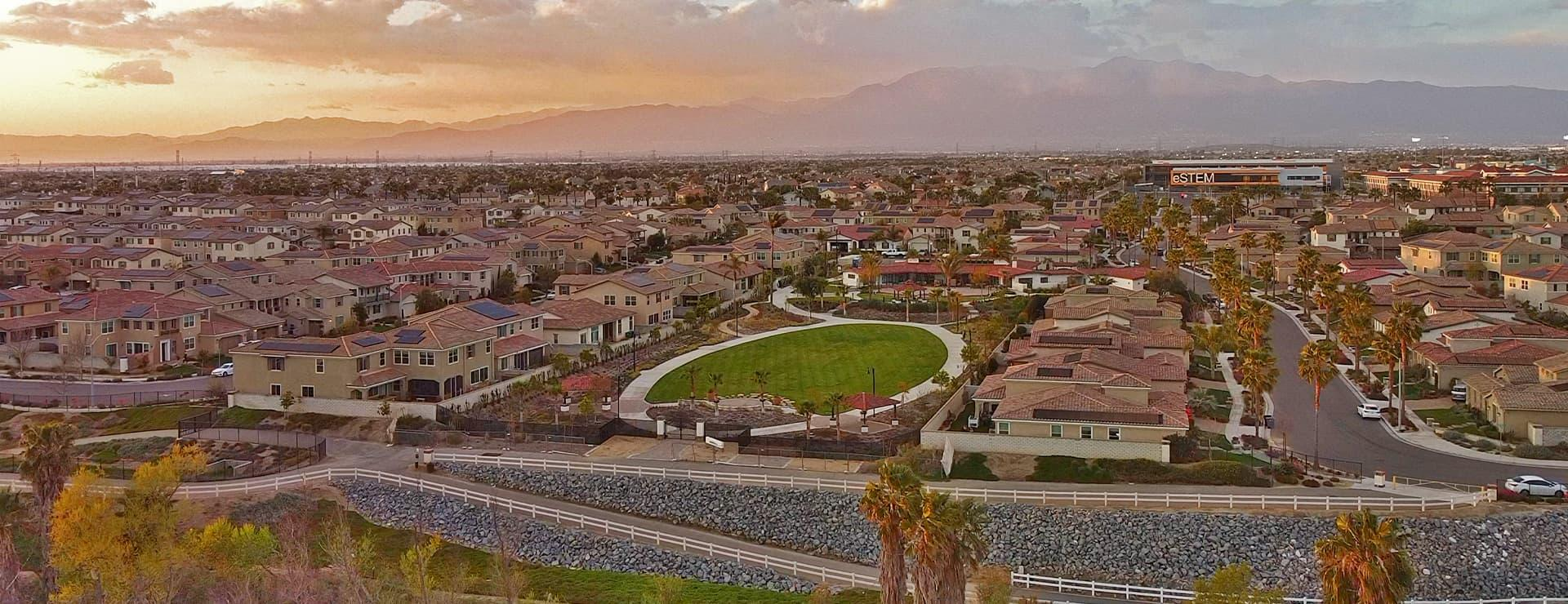 Aerial View of City of Eastvale California