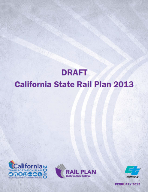 CA HSR 2013 Business Plan Cover Image