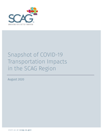 Snapshot of COVID-19 Transportation Impacts Cover Image