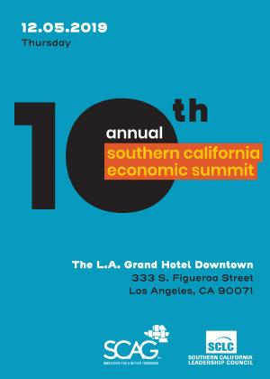 Poster for the 10th Annual Southern California Economic Summit