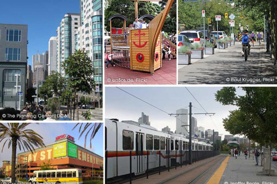 Images of different city infrastructures