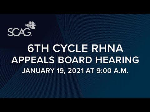 6th Cycle RHNA Appeals Board Hearing Livestream