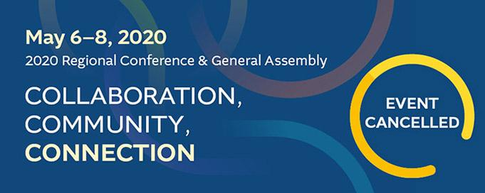 Flyer for the 2020 Regional Conference & General Assembly
