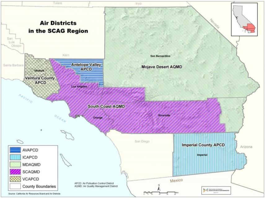 Air Districts in the SCAG Region