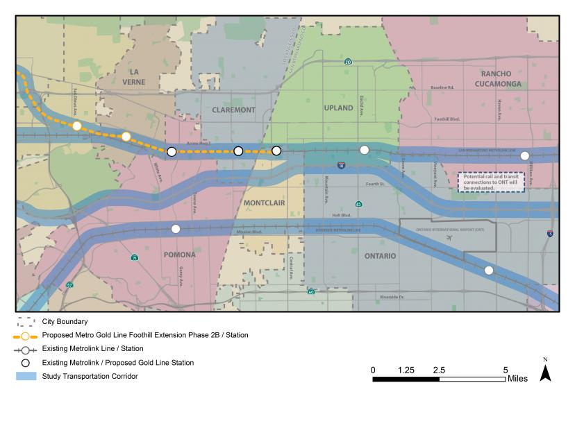 2016 LASBD intercounty Rail Study Map