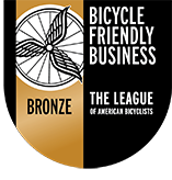 Bronze seal award from the League of American Bicyclists